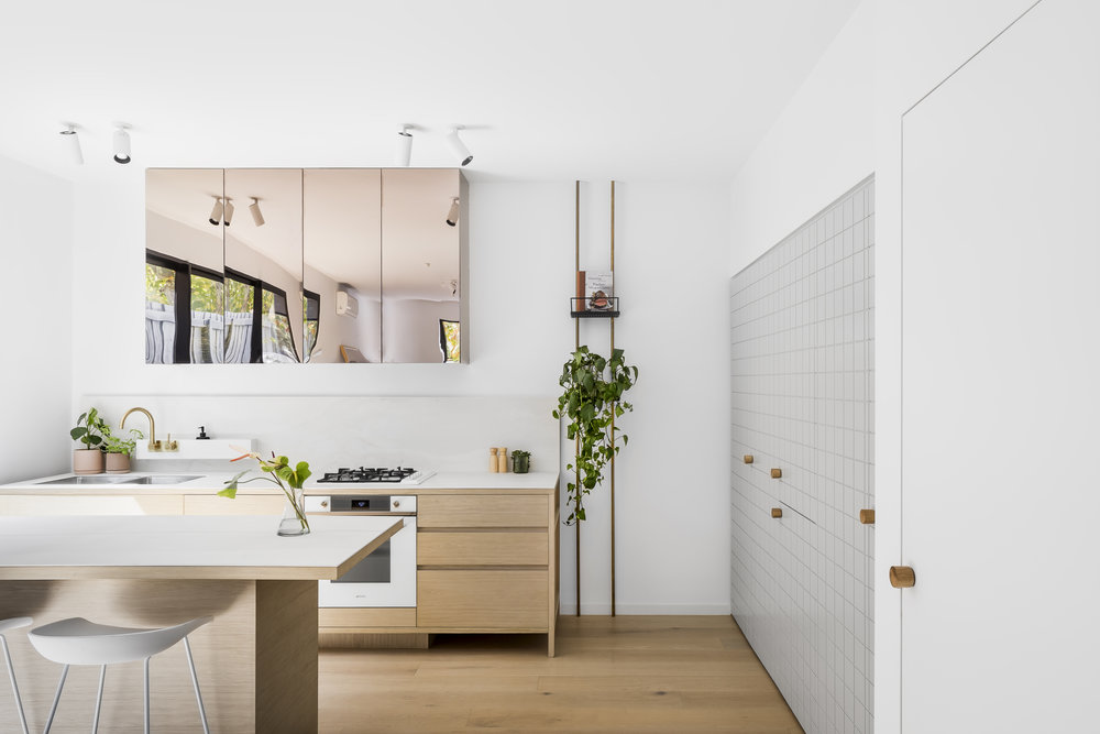 The light-filled kitchen space at Pine Ave designed by CS-A and The Stella Collective. Photo -  Maegan Brown .