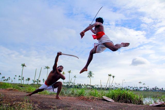 Kerala Traditional India Kalaripayattu Martial Art
