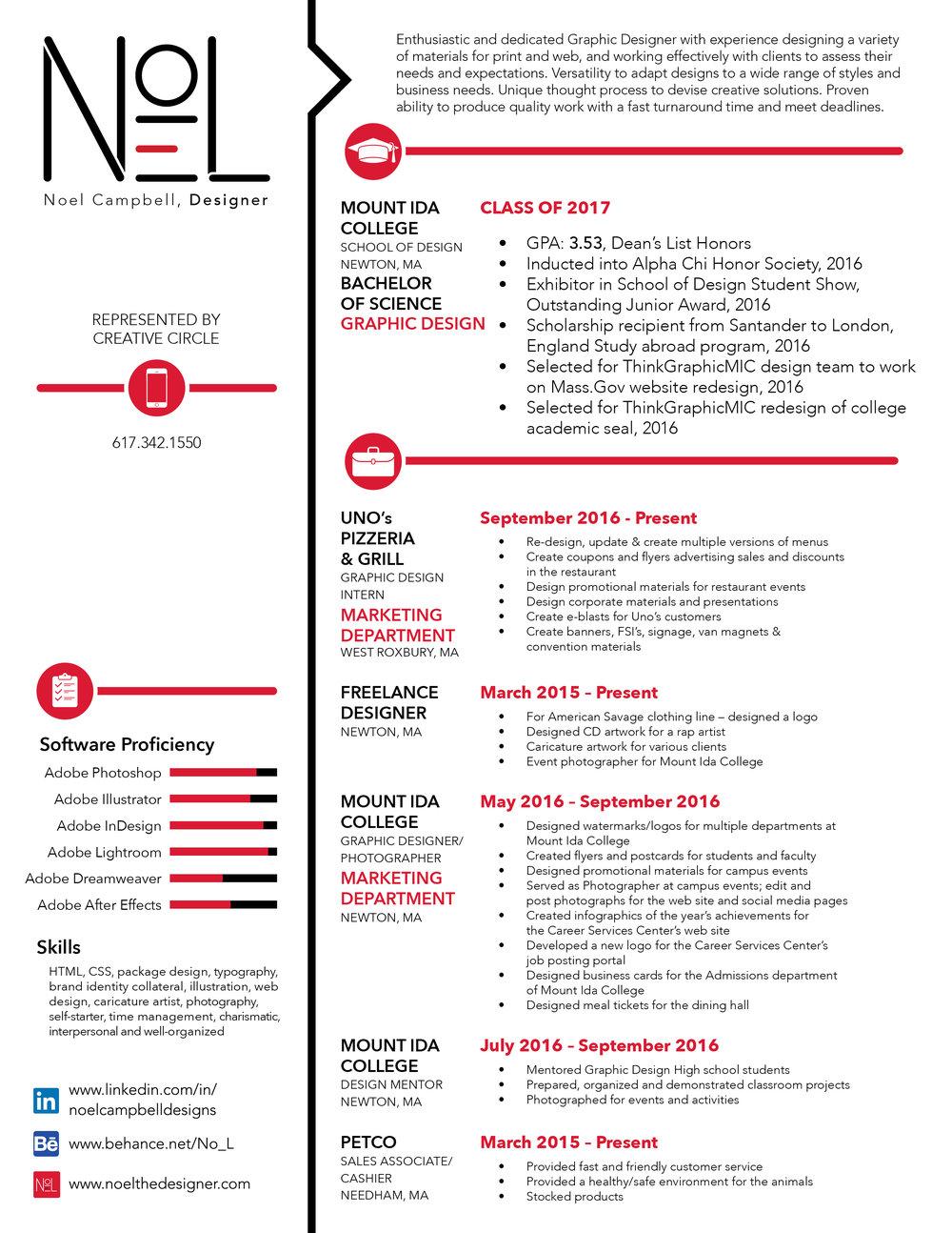 Resume — Noel the Designer