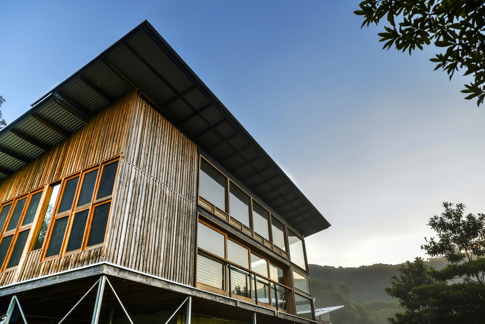 "Rainy Mountain Residence - ""We had an idea and a sustainability objective, Urakawa Jenkins Architects created a dream come true. It was great to work with experienced and enthusiastic designers, capable of incorporating multiple innovative design elements into a place we are proud to call home.""Sarah, Rainy Mountain Residence, Kuranda"