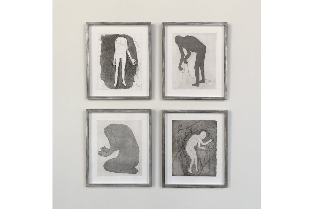 Shadow People, Etchings by Camilla Taylor