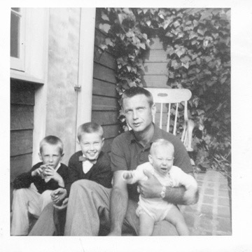Roderick Arbuckle Smith, with sons Rick, Dave, and Tony. I was only that gleam in his eye.