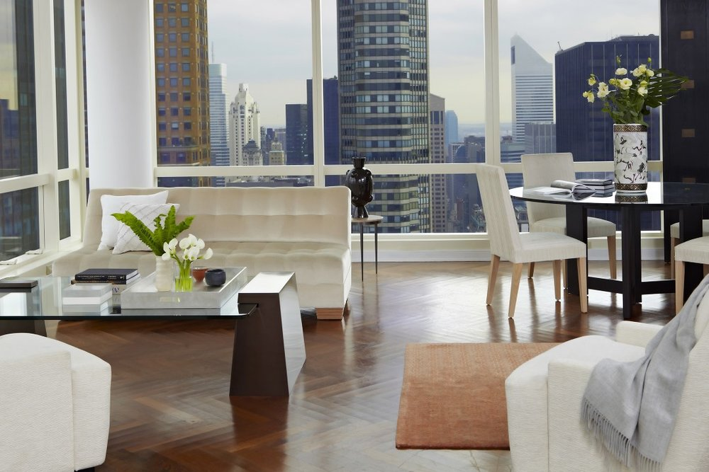 Furniture placement takes advantage of the million-dollar view.