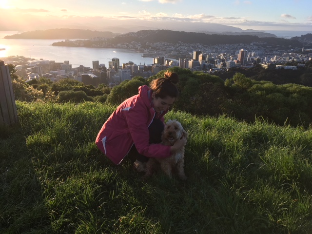 A morning walk with a friend and his darling dog, Nancy, up to Stellin Memorial Park and Tinakori Hill in Wellington was exactly what the doctor ordered! :)