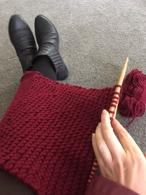 One of my 'mindful activities' (or 'preparing for retirement activities'...) - knitting! Does anyone want to start up a knit and chat circle? ;)