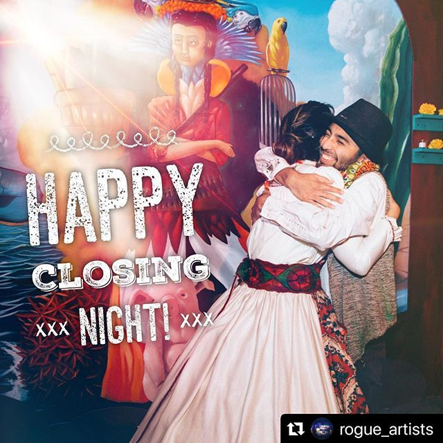 We are sold out tonight! Thank you to all are audiences, cast and artists who made this production possible. And to @wehoarts for inviting us. Let's have an amazing closing night!  @rogue_artists