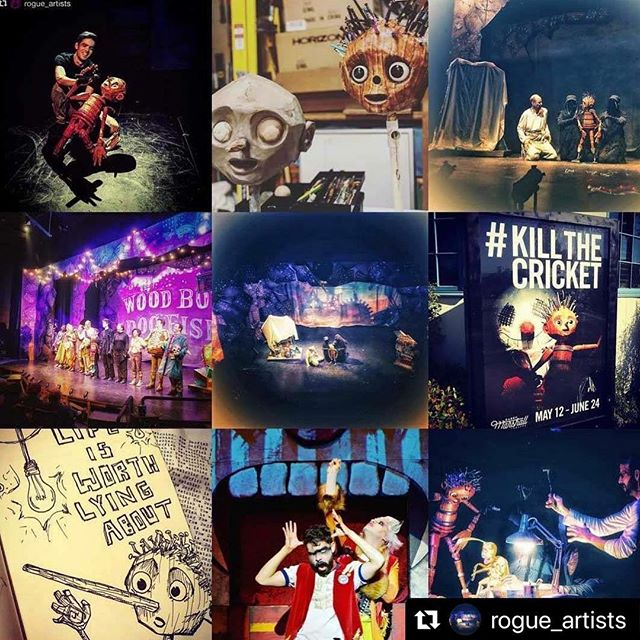 What a year! #Repost @rogue_artists ・・・ All the cool kids are doing it - here is our top 9 Instagram posts of 2018! This is very Wood Boy-centric, but SO MUCH happened this year: . We performed at the @skit ball_la Puppet Festival. . We performed a scene from Wood Boy Dog Fish at the Puppets for Puppetry Benefit at the Jim Henson Company. . We premiered a new and improved Wood Boy Dog Fish at the @garrymarshalltheatre . We premiered Señor Plummer's Final Fiesta with @wehoarts . We performed and held workshops at schools across Southern California. . We held our first Rogue Soiree and our 5th Annual Feed the Puppets Telethon. . We launched our inaugural Rogue Lab new play incubator. . The Rogue Team received 6 Ovation nominations and 2 Honorary Ovation Awards for Kaidan Project: Walls Grow Thin. . We couldn't have done any of this without YOU. Thank you for supporting, for donating, for grabbing tickets and dragging your friends to the theatre, for hugs and shoutouts and late night snacks during tech week.  We have a lot of new work in development that we can't wait to start sharing with you guys in 2019. Puppet Hugs and Happy New Year! #lathtr