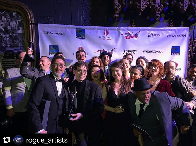 #Repost @rogue_artists ・・・ What an amazing night at the Ovation Awards! We are continually humbled by the outpouring of support and the LOVE and ENERGY of LA Theatre artists. We're so lucky to be a part of this community. . We had a fantastic time celebrating with you, and we were so honored to be nominated for Best Production of a Play for Kaidan Project along so many brilliant plays in LA. . Our Kaiden Project family represented (even Christine Papalexis, who wasn't there physically, but appeared on stage as a puppet with out puppet designers). We had over 50 people work on Kaidan Project - and we are grateful to everyone. . Special congrats to Gillian Moon and Steve Swift (Sound Design winners), Matt Hill (Video Designer winner), Dillon Nelson and Keith Mitchell (Scenic Design winners), Greg Ballora, Sean T. Cawelti, Christine Papalexis, Jack Pullman, Morgan Rebane, and Brian White (Puppet Design winners), Adrien Prevost (Music Composition winner), Lori Meeker (Costume Design nominee) and Karyn Lawrence (Lighting Design nominee). . And thanks to East West Players for supporting us on this crazy project! #OvationAwards #LAThtr #LAThtrawards #immersive #immersivetheatre 📷 @brianwhiteillustration