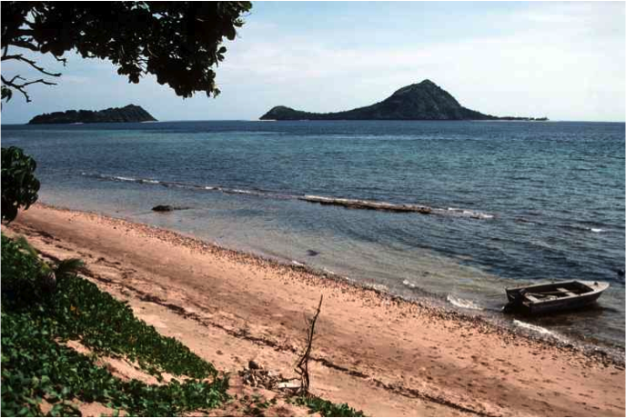 Shores of Mer (Murray Island), Torres Strait Islands, the birthplace of Eddie 'Koiko' Mabo.