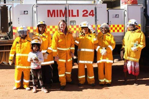 The Mimili CFS brigade women are South Australia's first female Indigenous volunteer firefighting team.