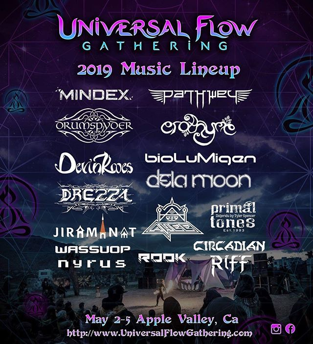 Stoked to be joining the @universalflowgathering lineup! 🎉👽