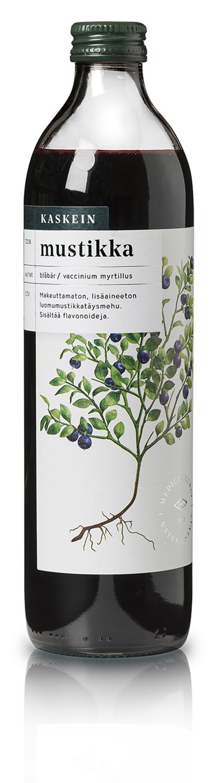 Organic 100% bilberry juice, 0,5l