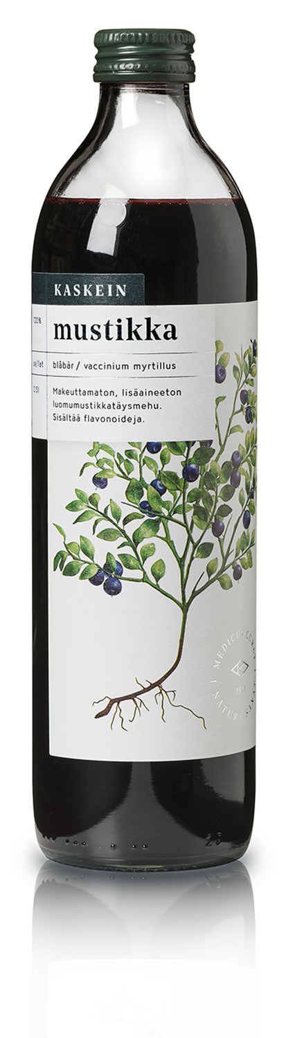 Organic 100% bilberry juice, 0,5l