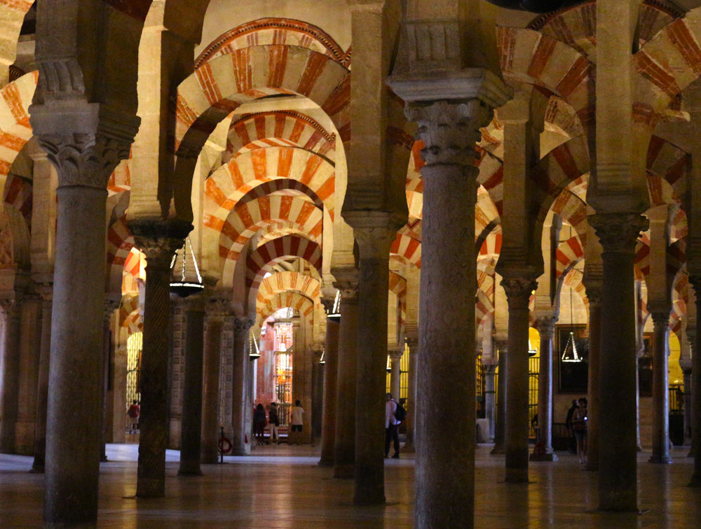 Mezquita (Mosque) Cathedral in Cordoba .