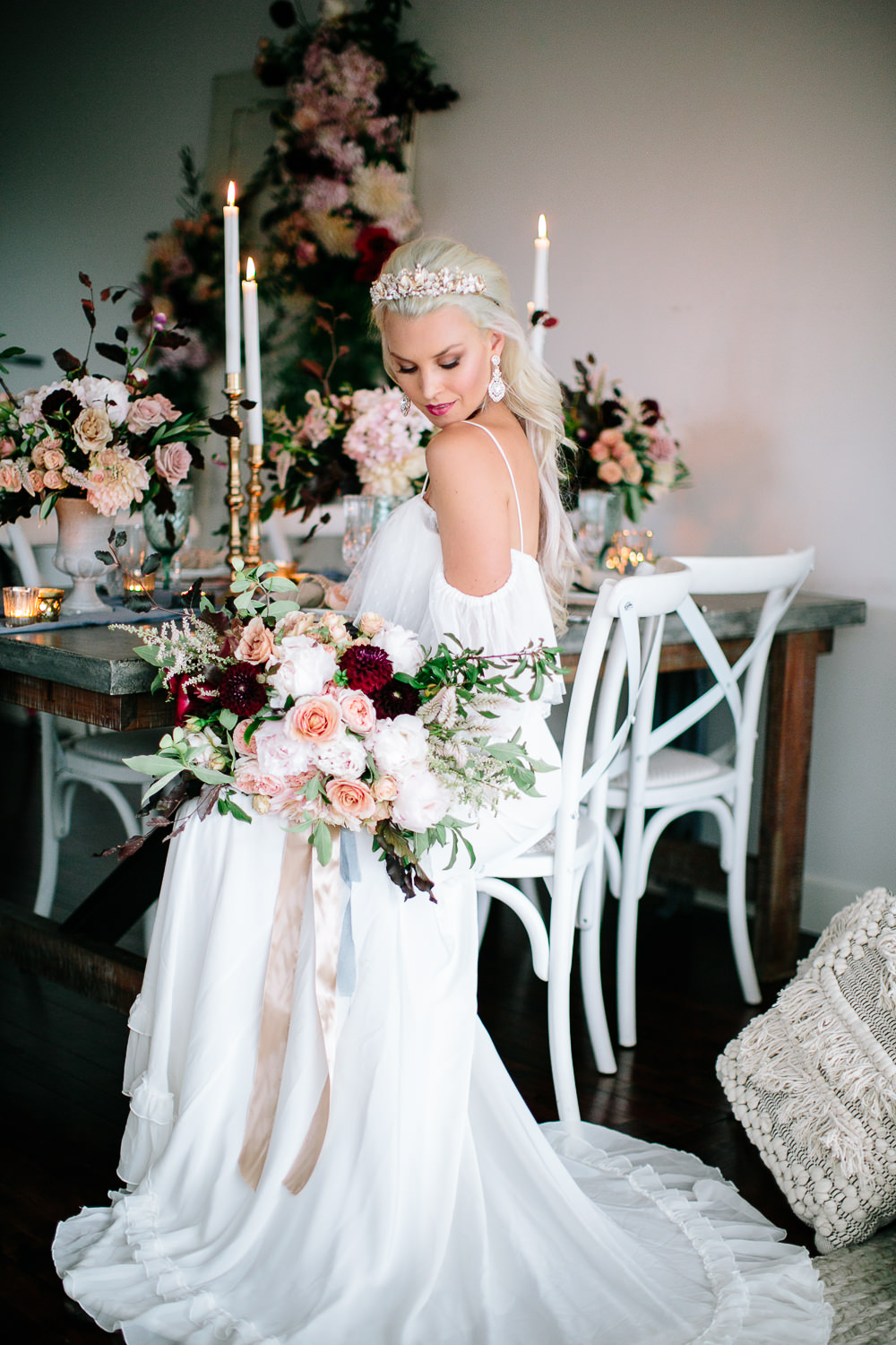Styling - Chanele Rose flowers are highly passionate floral stylists and have proudly been involved in Styling & floral designing for many inspirational photo shoots – as seen here.