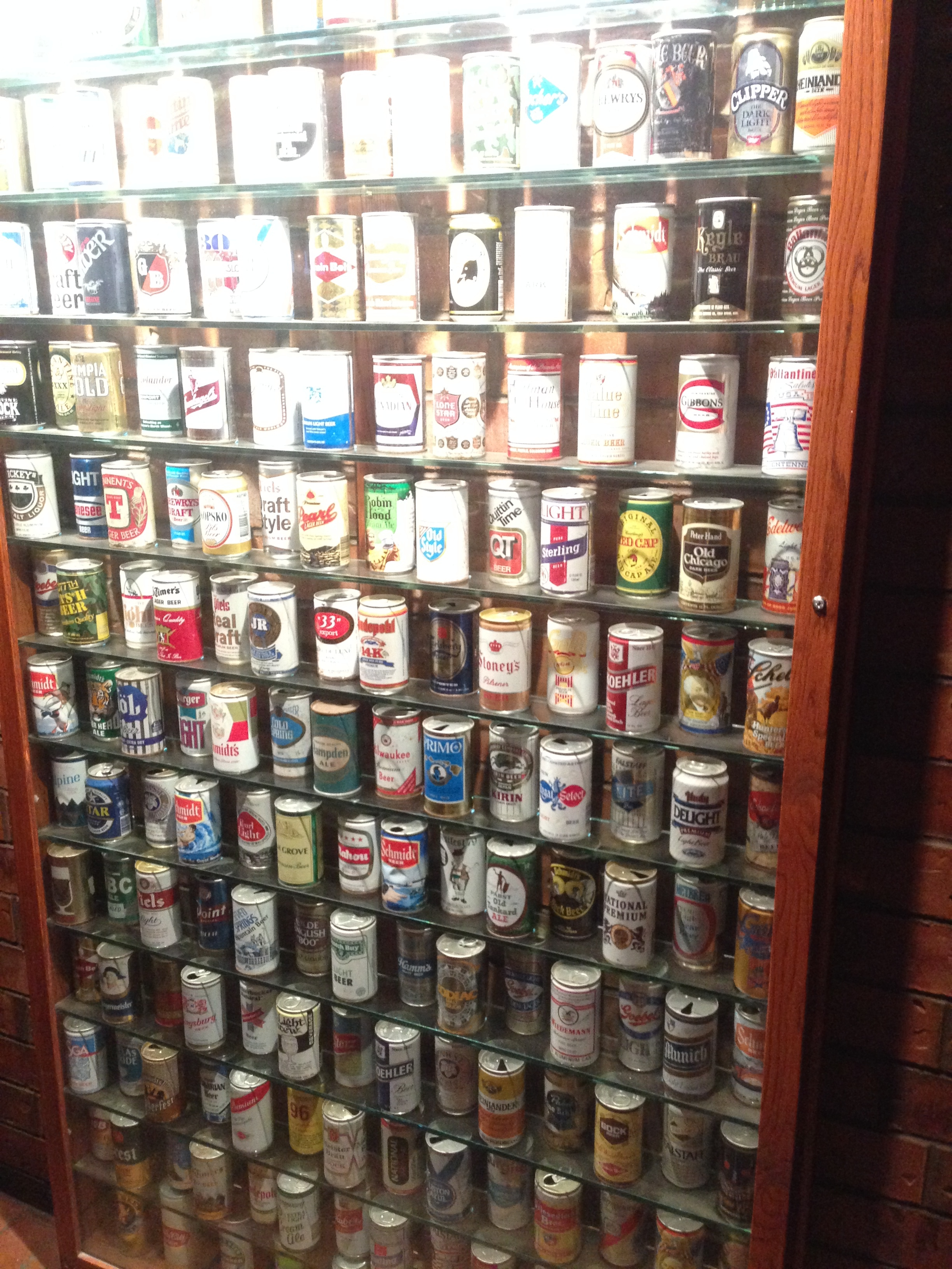 Great collection on vintage cans