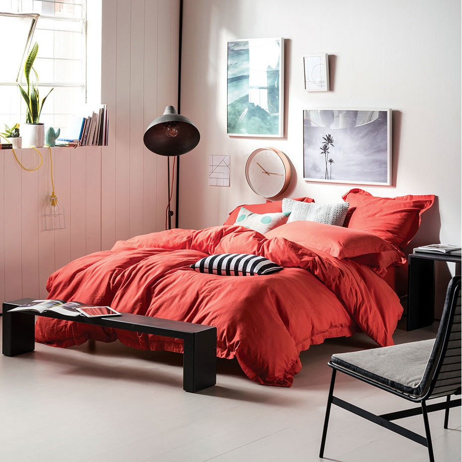 Elka Coral Quilt Cover by Linen House