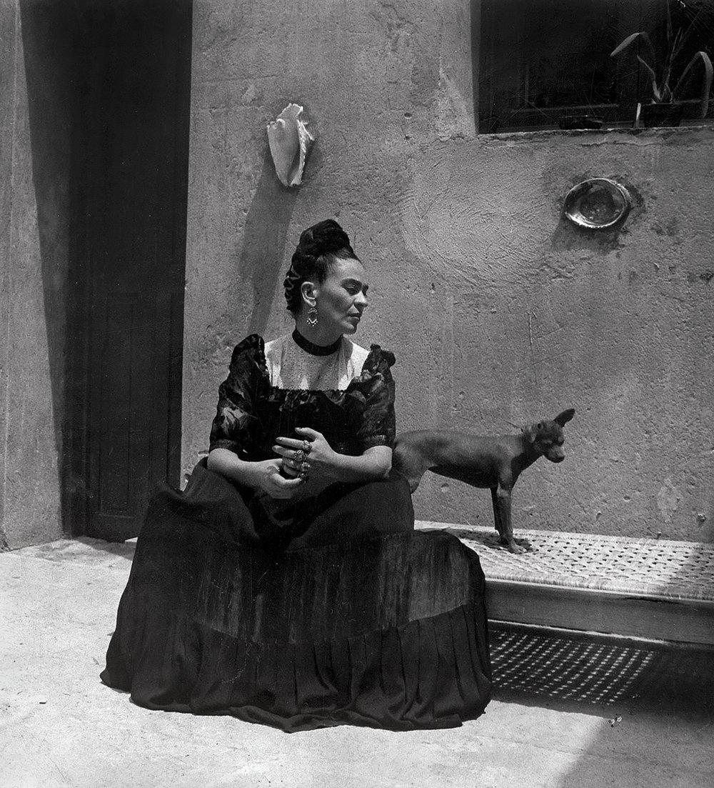 Frida Kahlo  by Lola Álvarez Bravo, ca. 1944 ©Frida Kahlo Museum