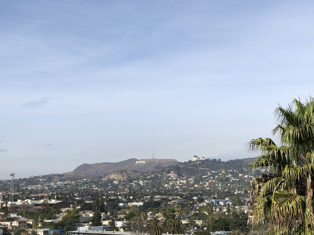 A view of the Hollywood sign from Silver Lake (all photos: S.Cooper)