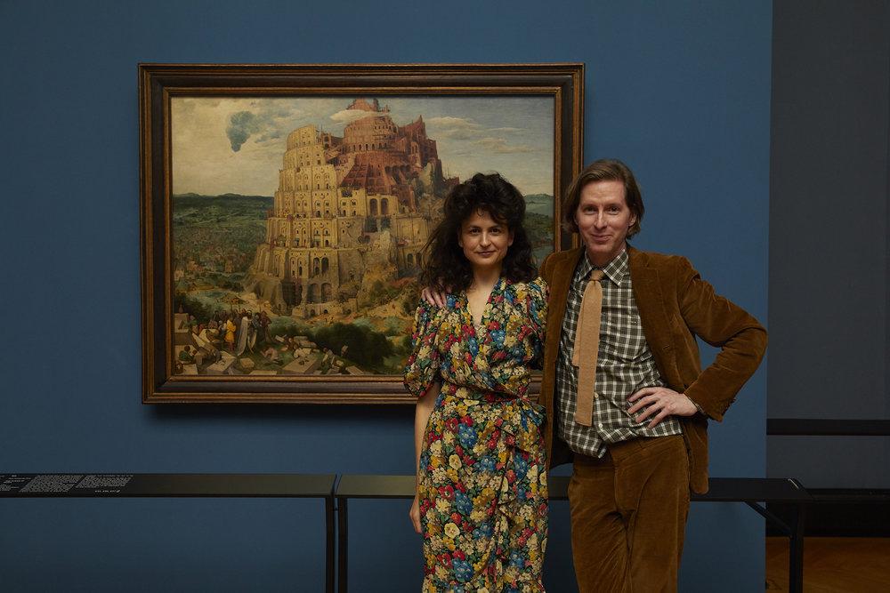 Juman Malouf and Wes Anderson Photo: Rafaela Proell