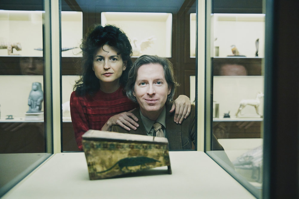 Malouf and Anderson in front of the spitzmaus coffin Photo: Rafaela Proell