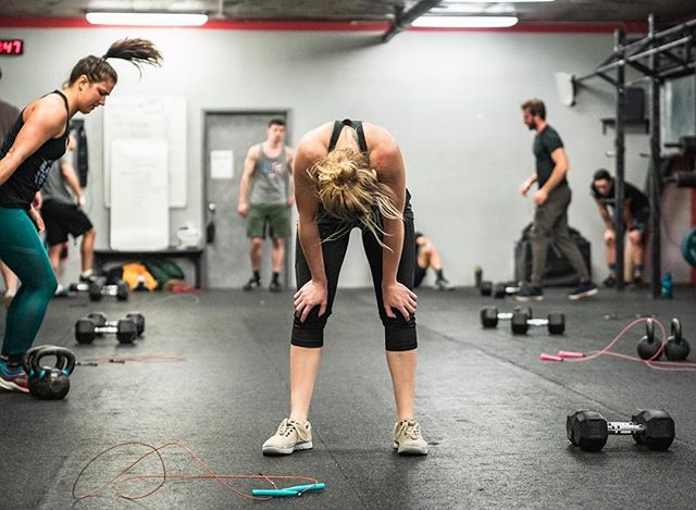 Take a deep breath, re-focus and keep going -------------------------------------- -------------------------------------- 📦 @crossfit_nyc
