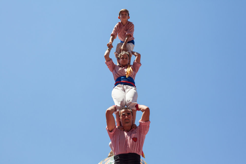 A human castle in Barcelona, a Catalan tradition.
