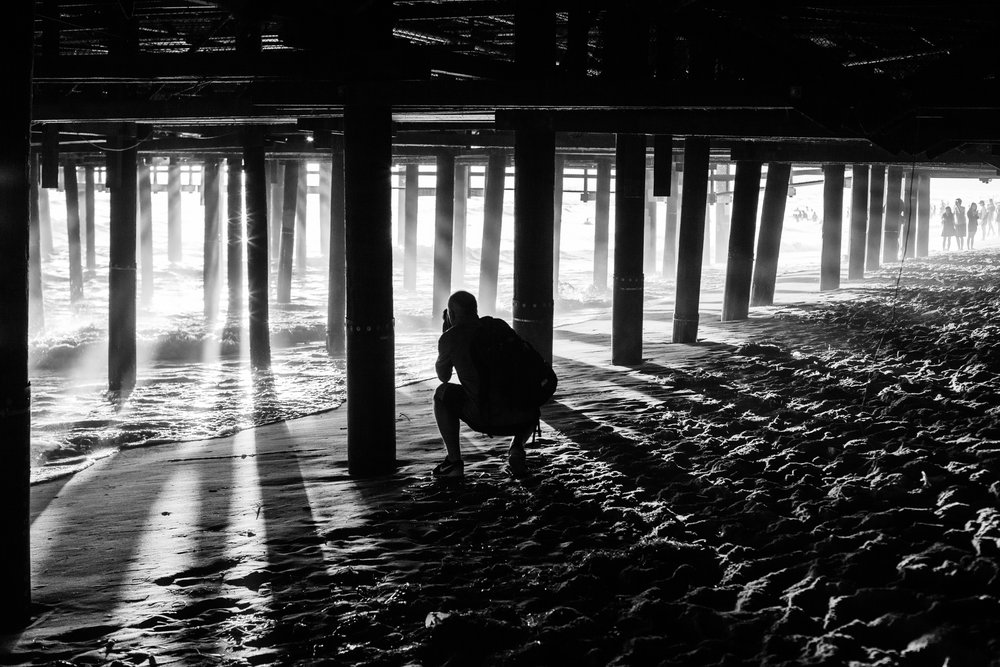An artistic black and white image in California by Geraint Rowland.