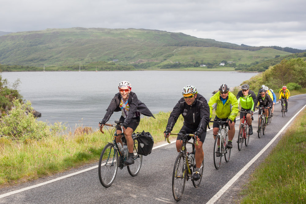 Road cycling in Scotland.
