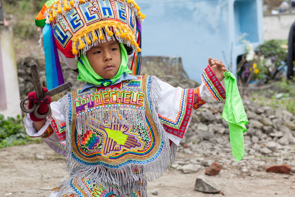 A boy performs the Danza de las tijeras (English: scissors dance) is an original dance from the south of the Andes, in Peru.