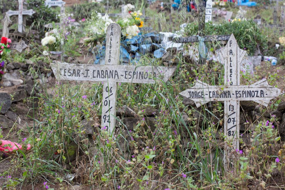 A Peruvian graveyard.
