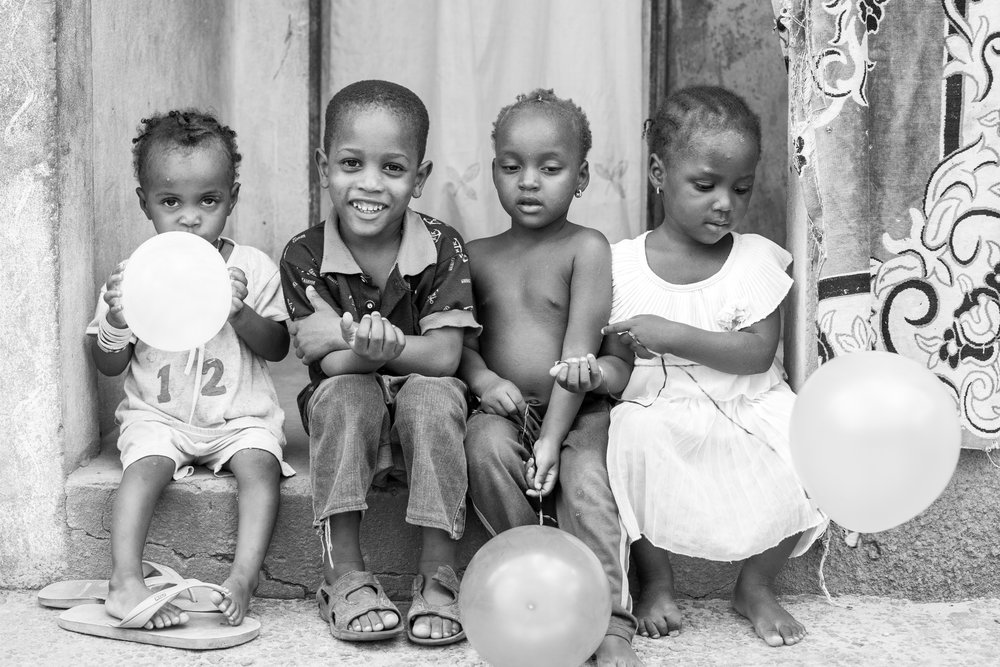 Gambian children in the Capital.