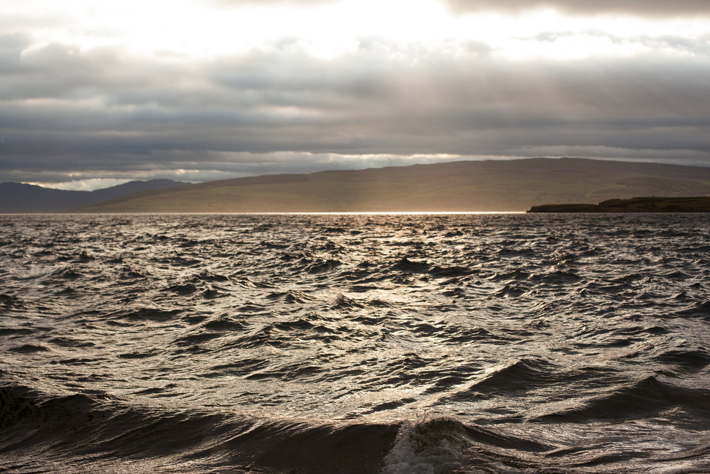 Rough seas & beautiful light, Scotland.