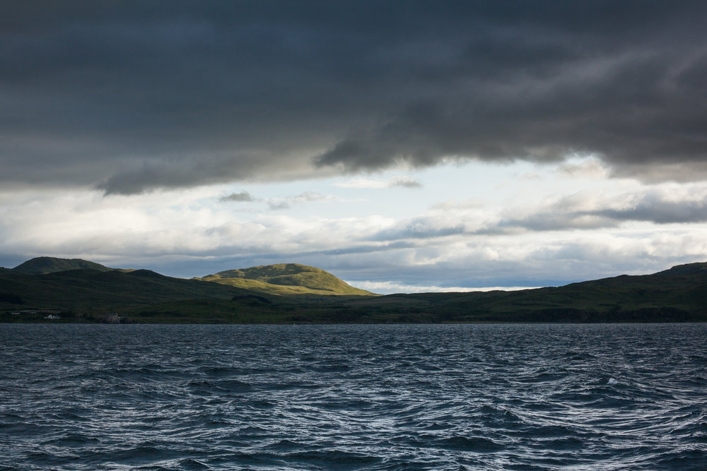Stormy skies, Scotland.