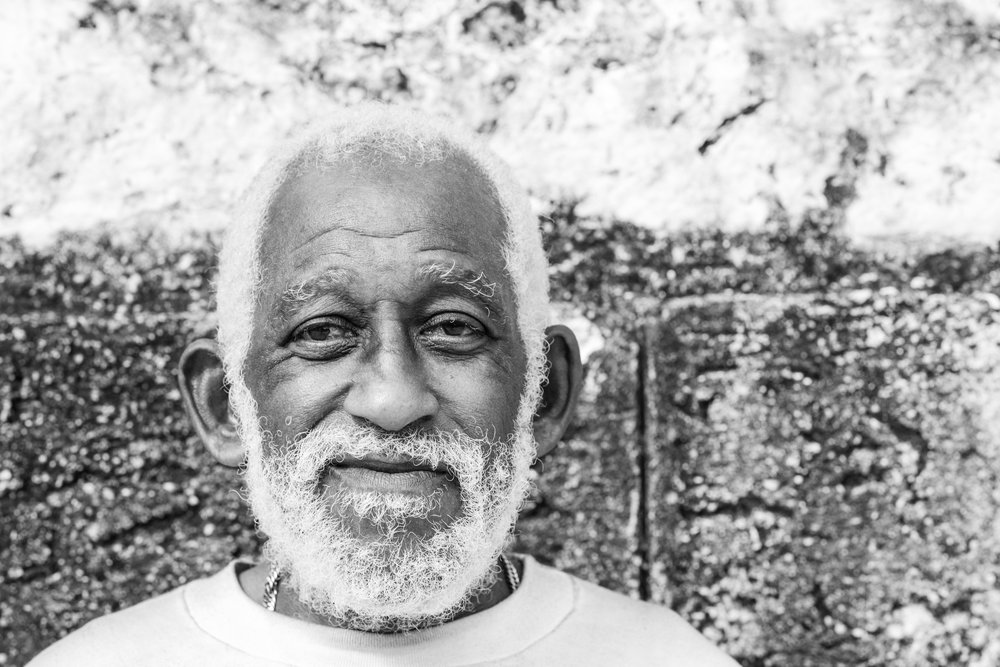 A head shot portrait of an elderly man taken on the streets of Havana in Cuba.