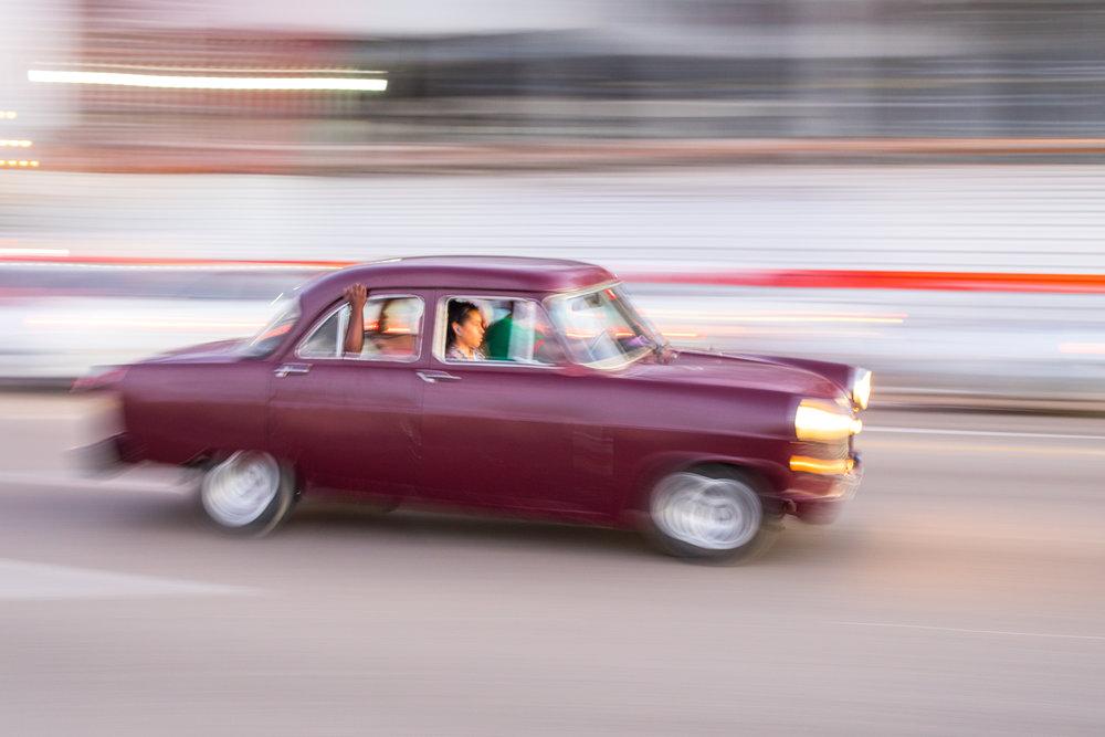 Panning Fotografia en La Habana