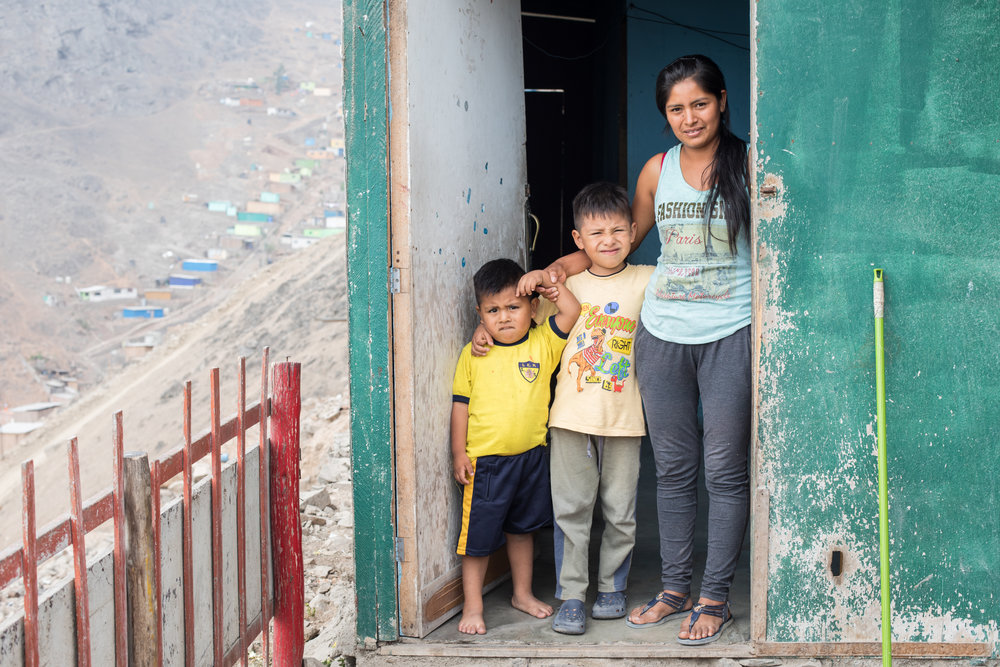 One of the lovely families we met at 'Hijos de Praderas', one of the communities supported by Reciprocity NGO.