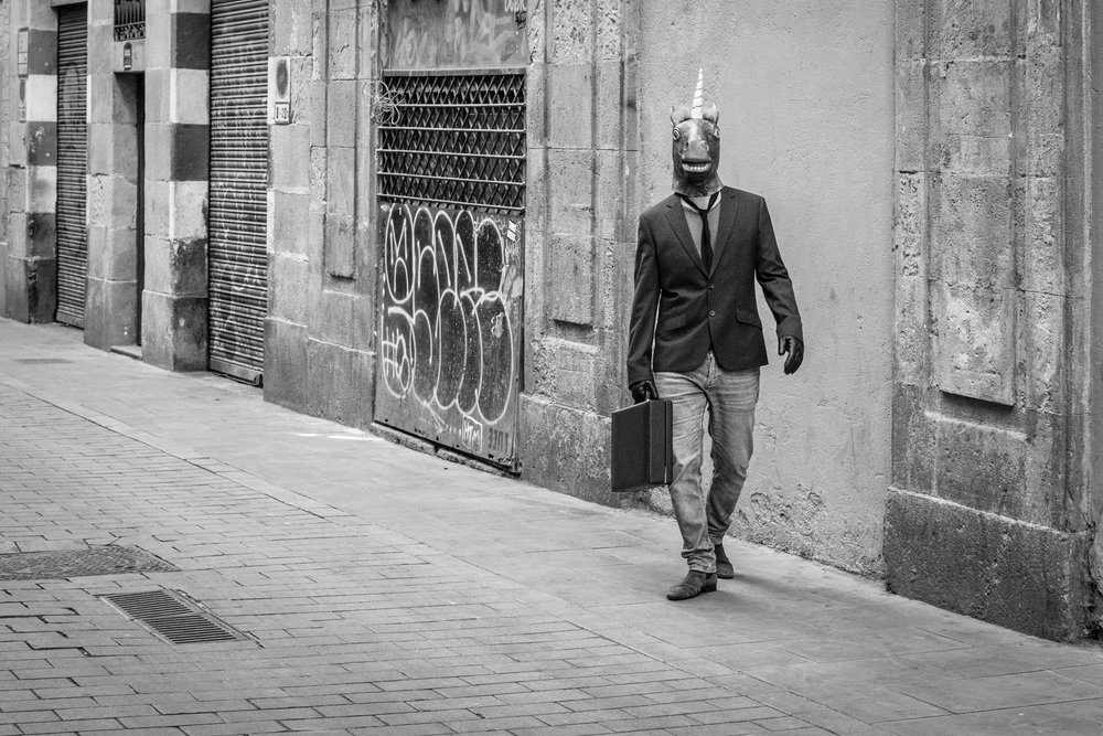 Black and White Street Photography in Raval, Barcelona.