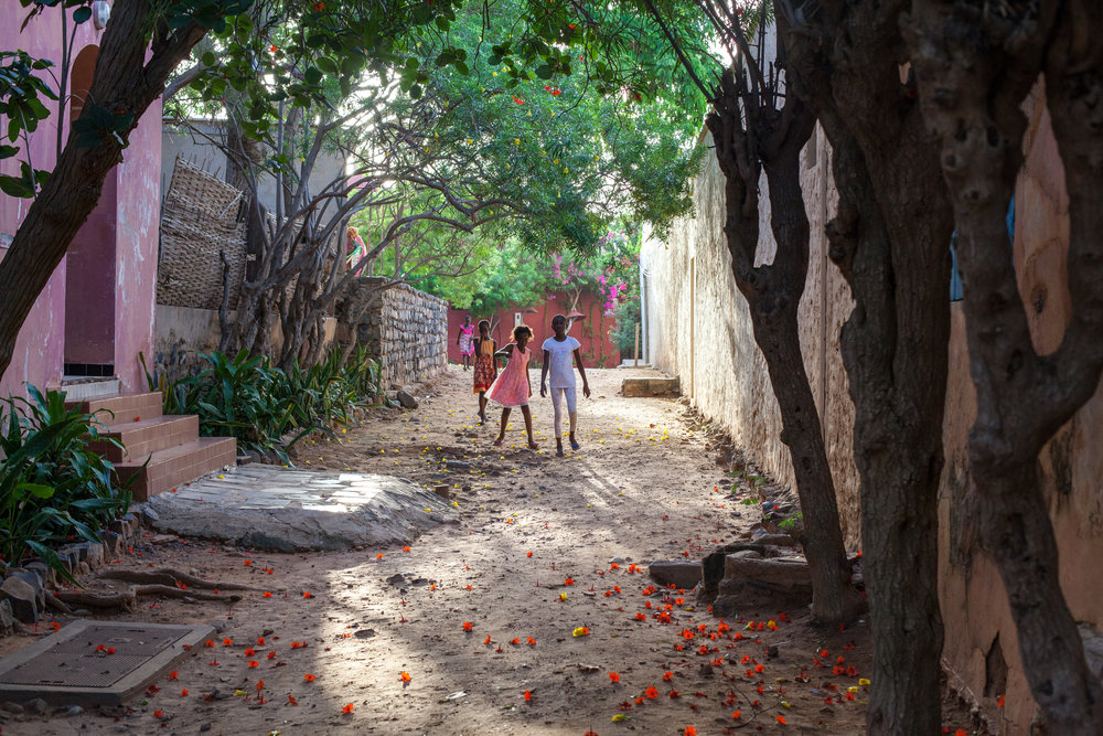 Beautiful backstreets on the Island of Gorée, Dakar, Senegal.