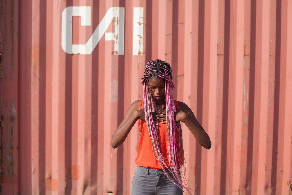 Urban photo shoot in Dakar, Senegal.