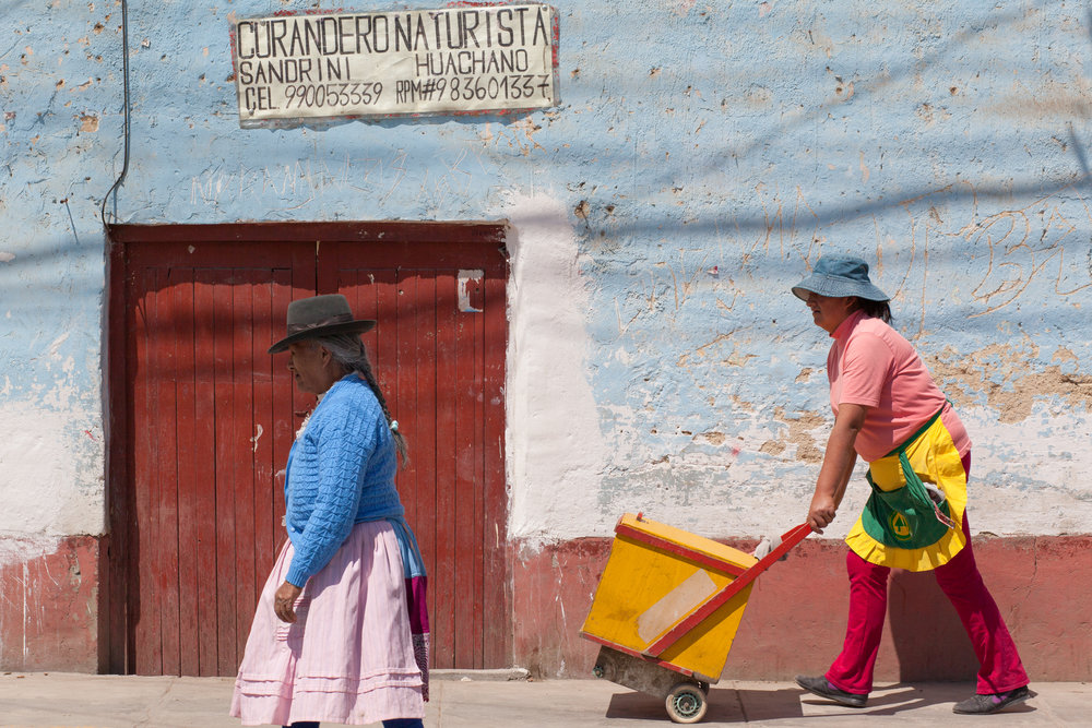 Colourful street photography in Andahuaylas in Peru.