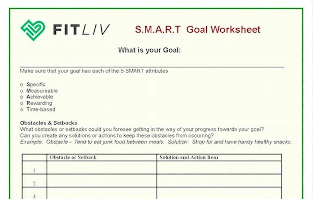 Creating S M A R T Goals Fitliv Boulder S Original Fitness Boot