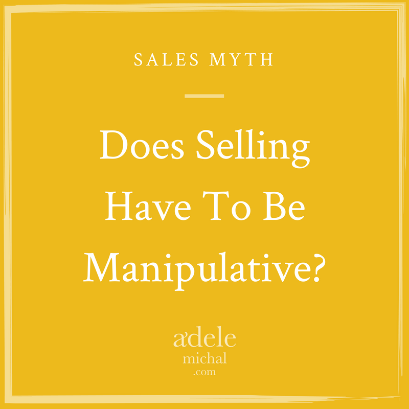 Does Selling Have to be Manipulative?