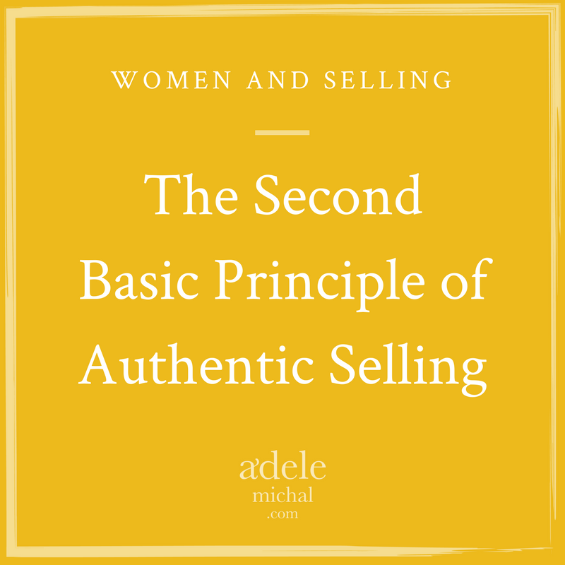 Basic Principle of Authentic Selling