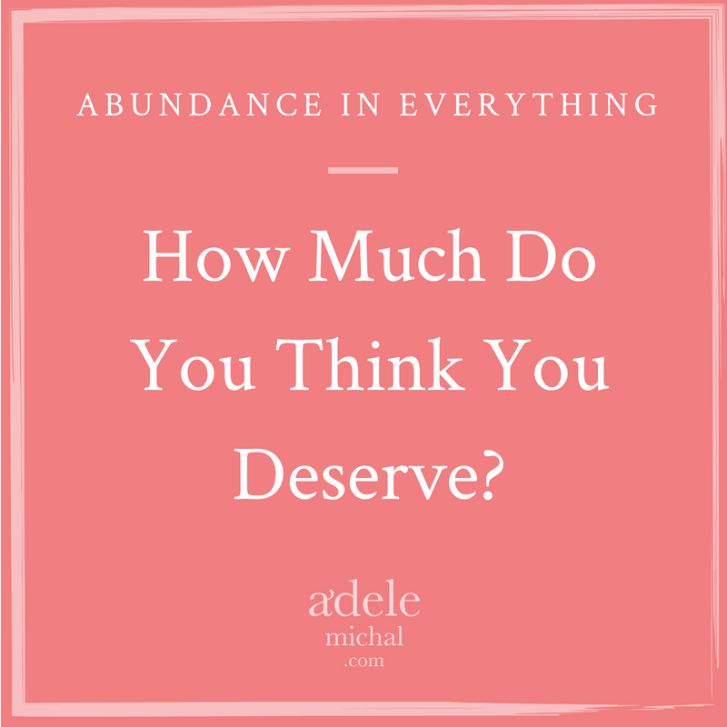 how much do you think you deserve?