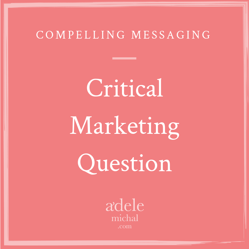 critical marketing question