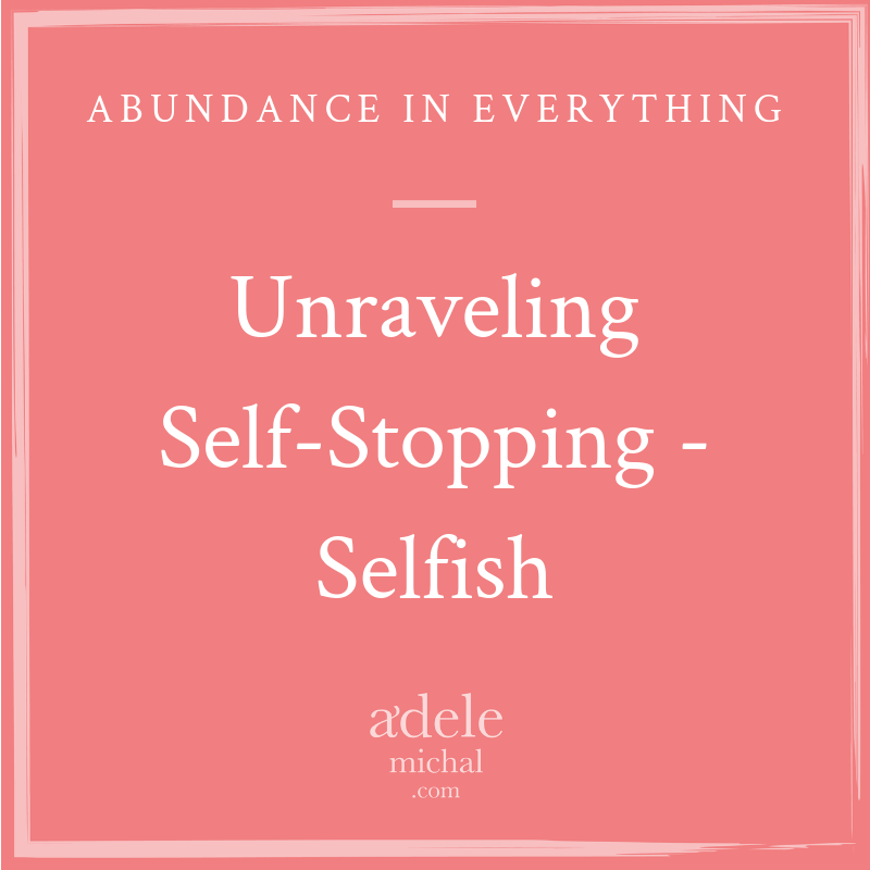 Unraveling Self-Stopping - Selfish