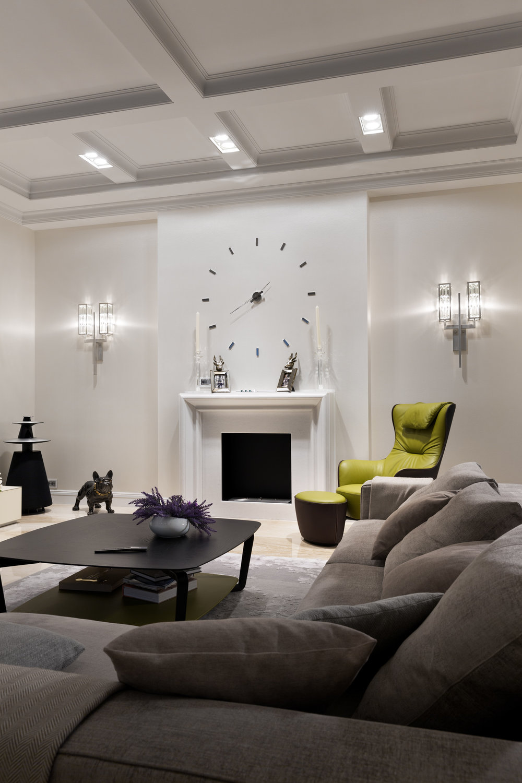 Marble fireplace designed individually. Lighting design based on eight parameters. Мраморный камин с фрезами по индивудуальному заказу. Дизайн проект освещения разработан по 8 параметрам.