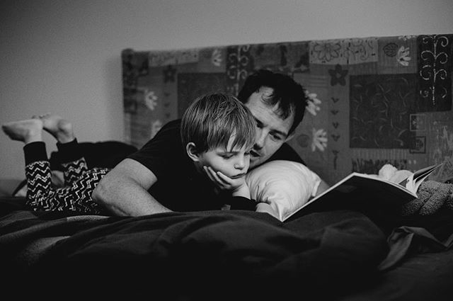 {STORIES} So many new stories have been read as we house sit for others and explore their shelves while our new home is being built. Ray loves finding new favourites, but mainly his favourite thing is Daddy snuggling him before bed. So, he's super excited that Daddy will be home tomorrow.