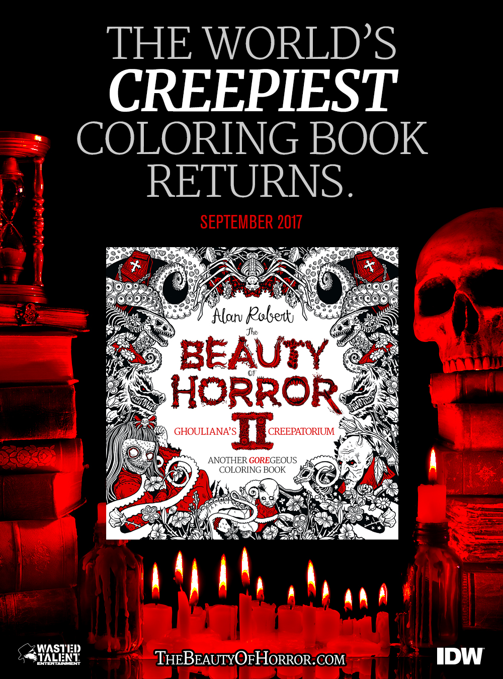 Alan Roberts Best Seller The Beauty Of Horror Coloring Book Gets